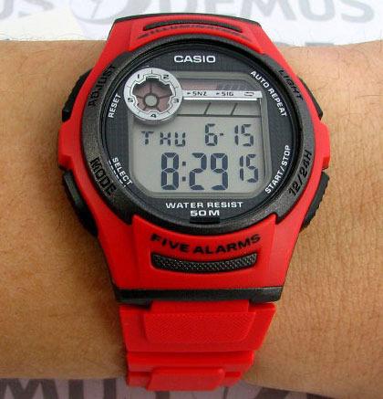 Часы Casio W-213-4A Часы Rhythm SI1605R02